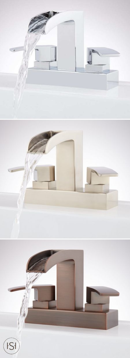What could be better than the relaxing sounds of a waterfall faucet? This Steven Centerset Waterfall Faucet that blends spa-like design with modern style!