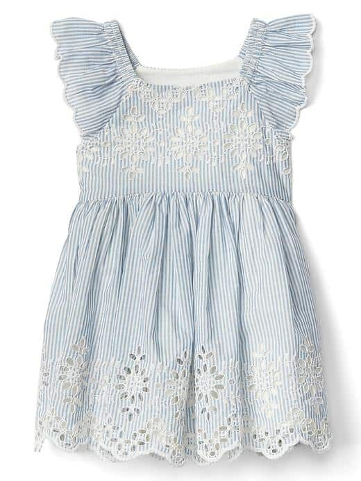 Cute spring or summer dress for baby girl Floral flutter dress | Gap