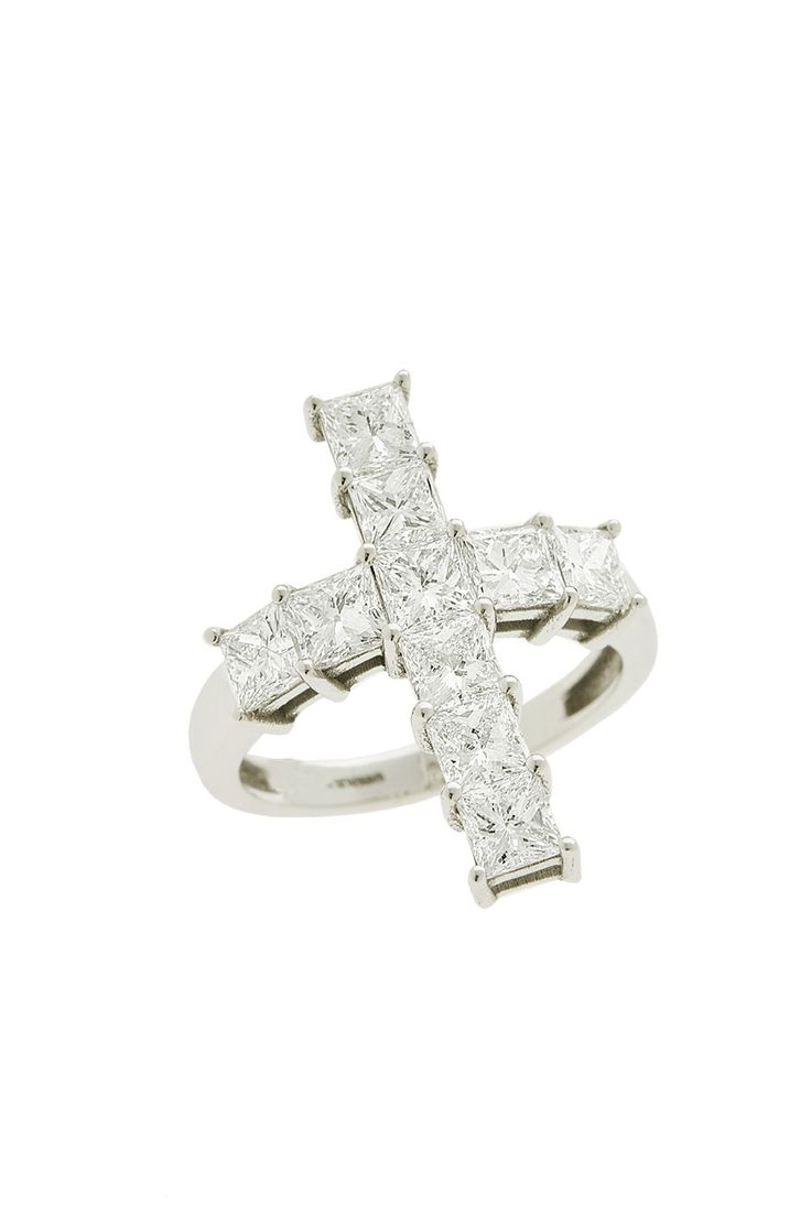 Gold K18 Princess Cut Diamonds