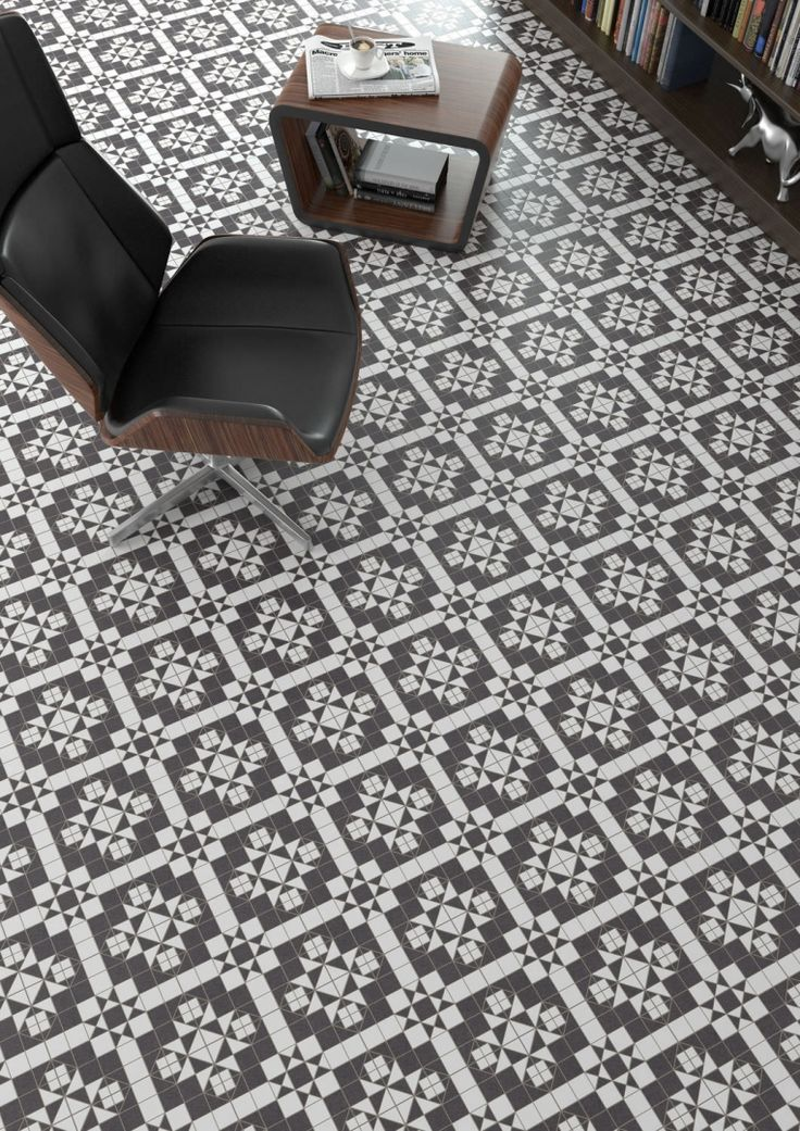 Black and White Vintage Tiles