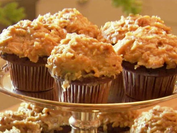 Ina's German chocolate cupcakes are a change of pace from birthday cake.
