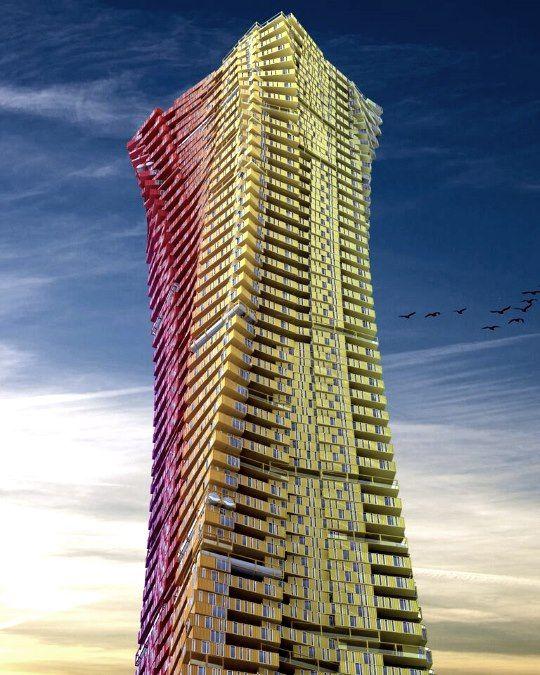 Arranha-céus construídos com contentores projetados para Bombaim