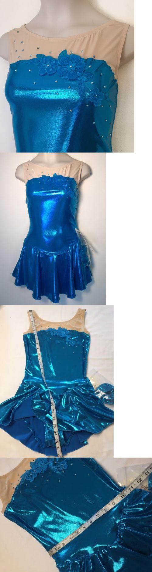 Skating Dresses-Girls 21226: Figure Skating New Dress Child 12 14 Xl Ice Skate Nwt Crystals Swarovski Blue -> BUY IT NOW ONLY: $49.99 on eBay!