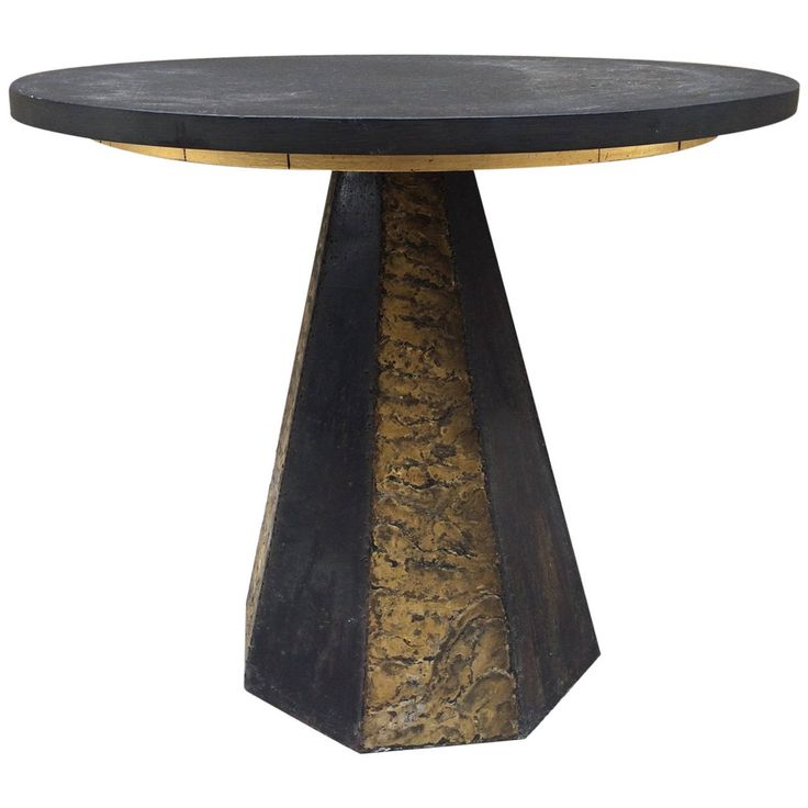 Round Slate Top Table By Paul Evans
