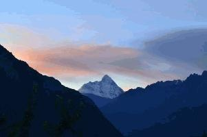 The mighty Nanda Devi from Auli.