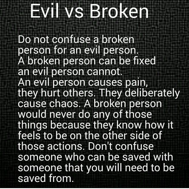 Evil and Broken YOU REALLY NEED TO READ THIS... JUST SO YOU KNOW YOU WILL NEVER BE FIXED BECAUSE YOU ARE AN EVIL Man..............JJM