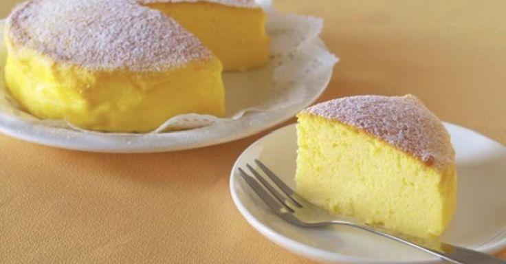 Cheesecake Japonês com apenas 3 ingredientes Pode usar-se chocolate negro e queijo quark