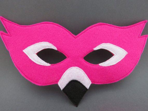 Felt Flamingo Mask Bird Mask Masquerade by herflyinghorses