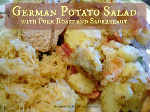 Pork roast and sauerkraut, Sauerkraut recipes and German potato salads ...