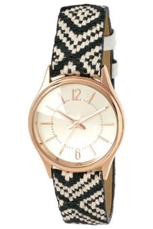Monochrome aztec strap watch