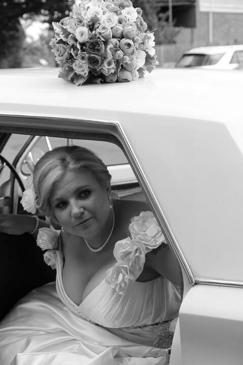 Bride with EH Holden.