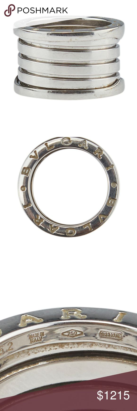 bvlgari bzero1 4band 18k ring size 6