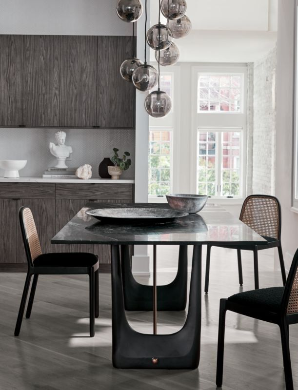 Total Showstopper Caleb Zipperer S Dining Table Design Pairs Super Sleek Black Marino Marble With A Vinta Dining Table Marble Modern Dining Room Marble Dining