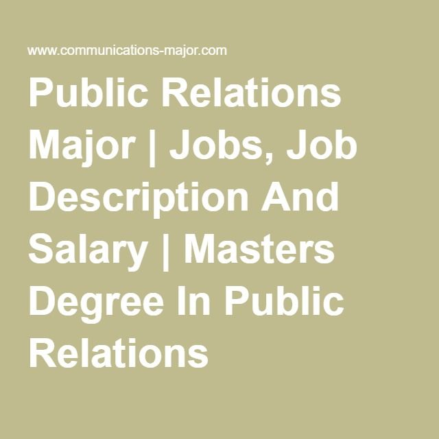 Public Relations Job Description Understand The Difference Between