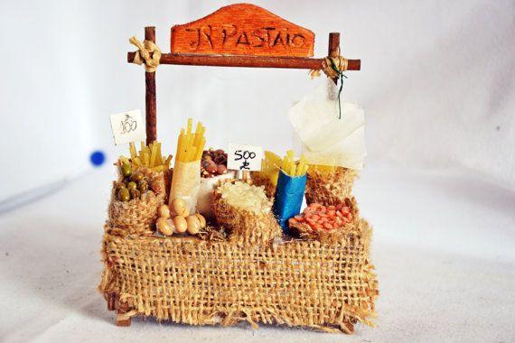 Accessorio presepe - Banco Pastaio