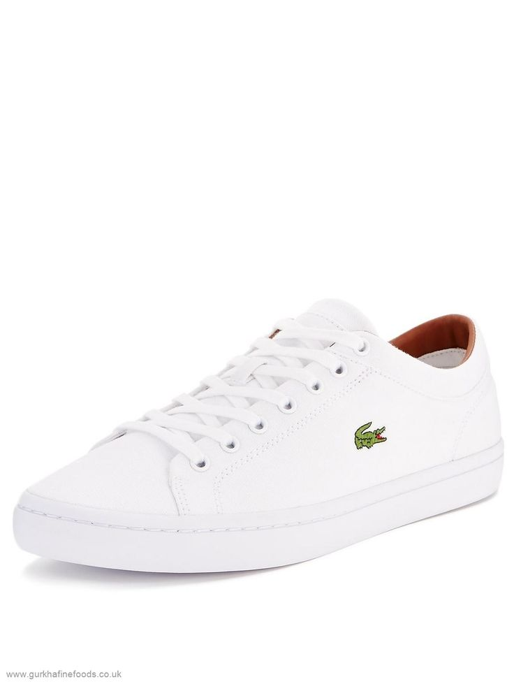 lacoste straightset white womans leather - Google Search