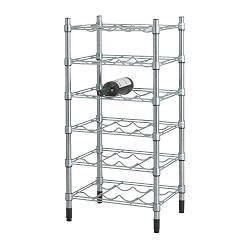 IKEA - OMAR, Bottle shelving unit, Easy to assemble – no tools required.You can build several vertically if you need more storage space.