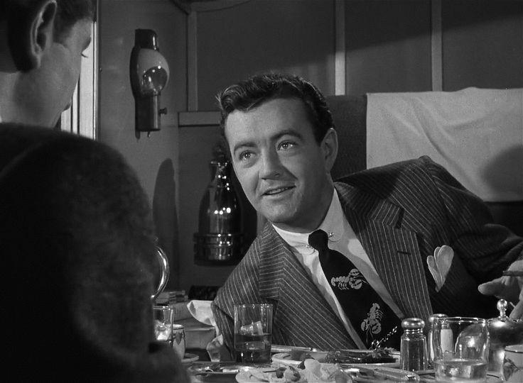 """Strangers on a Train"" (1951): Robert Walker and Farley Granger."