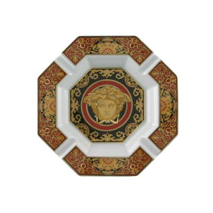 #MEDUSA AHSTRAY de #Versace. Cenicero de 14cm en fina porcelana y oro de la colección #Rosenthal Meets Versace.