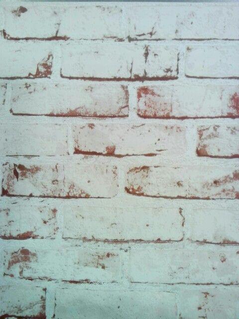 Behang, oude stenen muur.