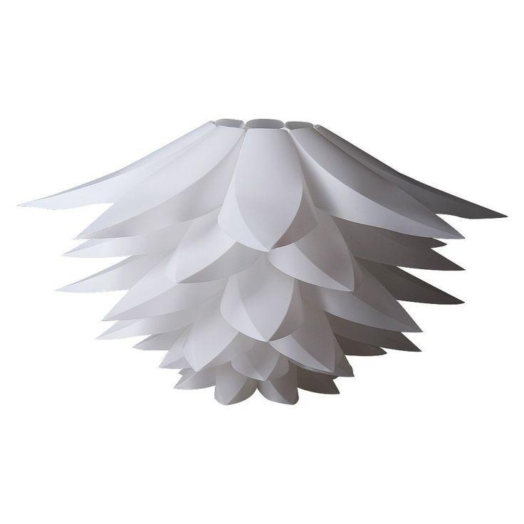 DIY Lotus Lampenschirm Weiß, MIRI Puzzle IQ Deckenlampenschirm Pendelleuchte Hängeleuchte Kronleuchter Lampenschirm Dekor Beleuchtung, Durchmesser 53cm (21 Zoll): Amazon.de: Beleuchtung