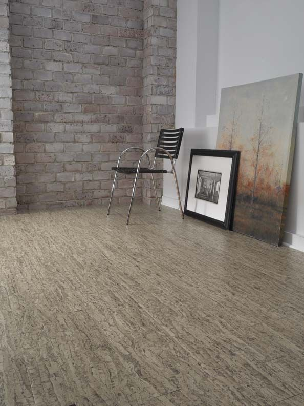 Almada cork flooring available at oscar 39 s carpet one for Is cork flooring good for basements