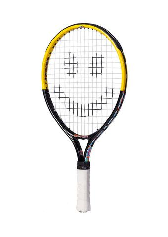 Junior Tennis Racket 17 & 19 in. Unique Kids Tennis Racket Specifically Designed for Beginner Player to Help Contact the Ball More Often. 17 Inch Racket for Ages 2 to 5 or 30 to 39 in Tall. 19 Inch Racket for Ages 5-7 or 40 to 50 in Tall.
