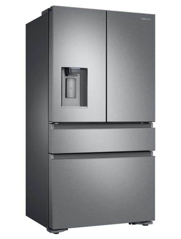 Awe Inspiring Samsung 22 6 Cu Ft 4 Door French Door Refrigerator With Home Interior And Landscaping Mentranervesignezvosmurscom