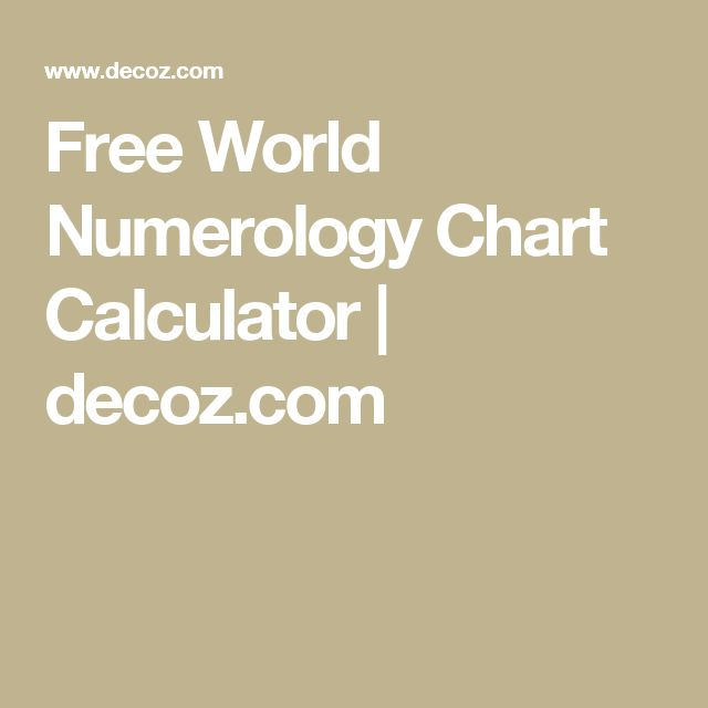 Best 20+ Numerology Chart Ideas On Pinterest | Numerology