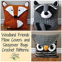 Ravelry: Woodland Friends Pillow and Bag Patterns - patterns