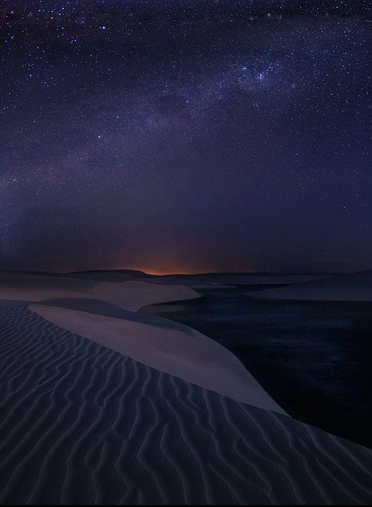 Starlight Dunes, Lencois Maranhenses Sand Dunes, Brazil