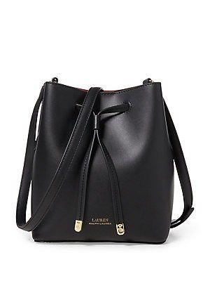 325eee199eef Lauren Ralph Lauren Dryden Drawstring Leather Mini Bucket Bag ...