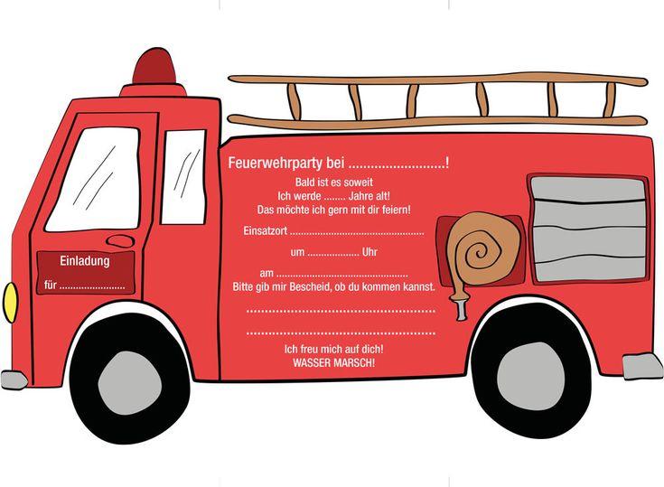 Eine schöne Einladung für den Feuerwehr Kindergeburtstag. Hier bekommst du nicht nur die Einladungskarte sondern auch einen tollen Download für eine Menge Dekorationsmaterial und die perfekte Feuerwehr Kinderparty. Schließlich möchten Kinder ganz und gar Feuerwehrmann sein an diesem Tag. Auch viele coole Spielideen zum Feuerwehr Geburtstag findet ihr auf dem Limmaland Blog. www.limmaland.com