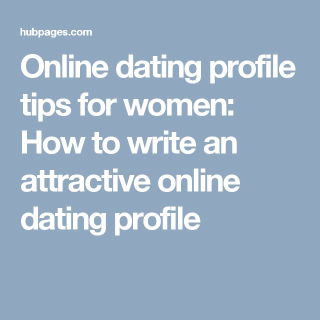 How to online dating profile