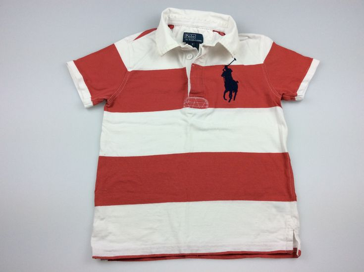 Polo by Ralph Lauren, boy's polo t-shirt, good pre-loved condition (GUC), size 6, $12 #kidsfashion #boysfashion #poloralphlauren #ralphlauren #daisychainclothing