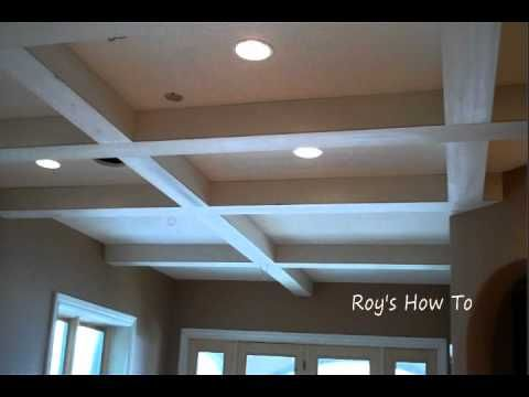 Ideas design tips for installing foam crown molding for Foam coffered ceiling