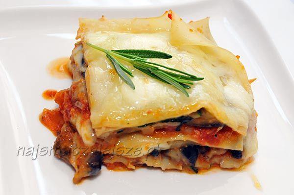 Lasagne wegetariańska, lasagne, wegetariańskie, cukinia, bakłażan, http://najsmaczniejsze.pl #food #lasagne #cukinia #bakłażan