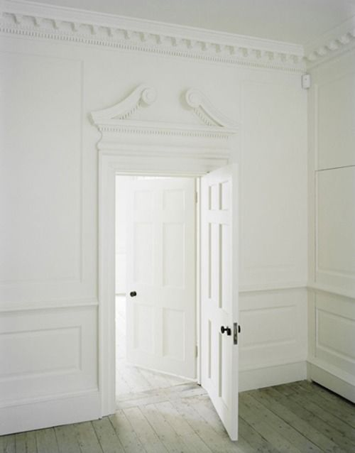 A Grand White Door Colonial Molding Federalist Style