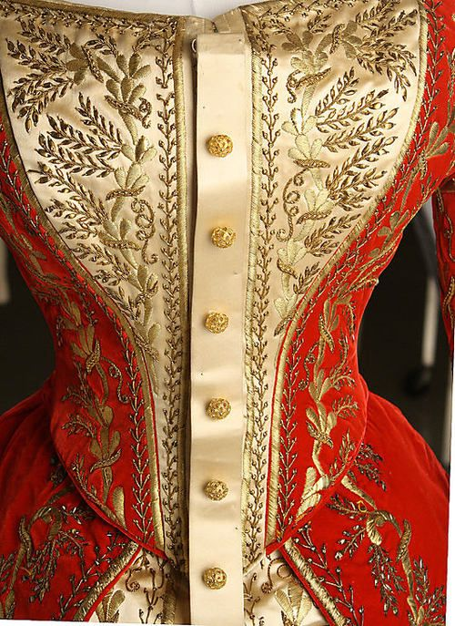 Detail of a Russian Court Gown from 1900.