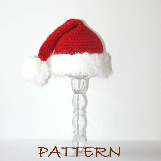 Pdf Christmas Santa Baby Hat Crochet Pattern Sizes
