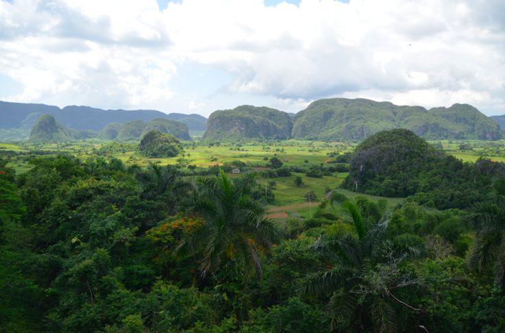 The 'Mogotes' from the 'Los Jazmines' viewpoint near Viñales, Cuba