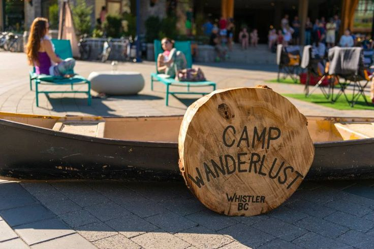 Camp Wanderlust in the center of the Whistler Village