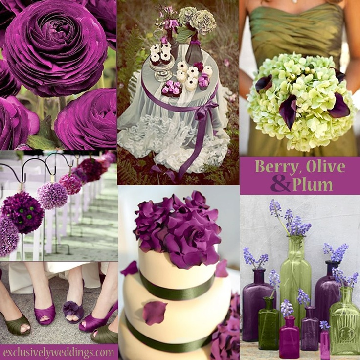Berry Olive Plum Wedding Ideas