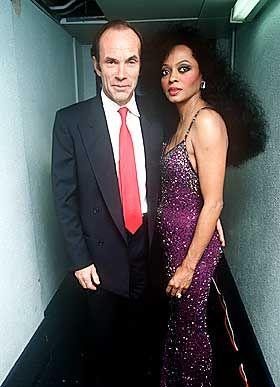 GIFT: Arne Næss giftet seg med Diana Ross i 1986.