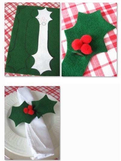 Anillos navideños para servilletas. Estos anillos de servilletas navideños son divertidas y fáciles de hacer, ademas aportan elegancia y encanto a su mesa.