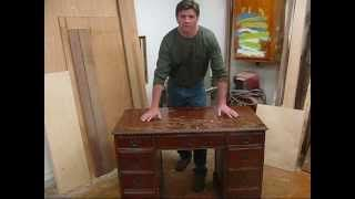 how to strip and refinish furniture, with Zip Strip, butchers wax, & shellac by Jon Peters, via YouTube.