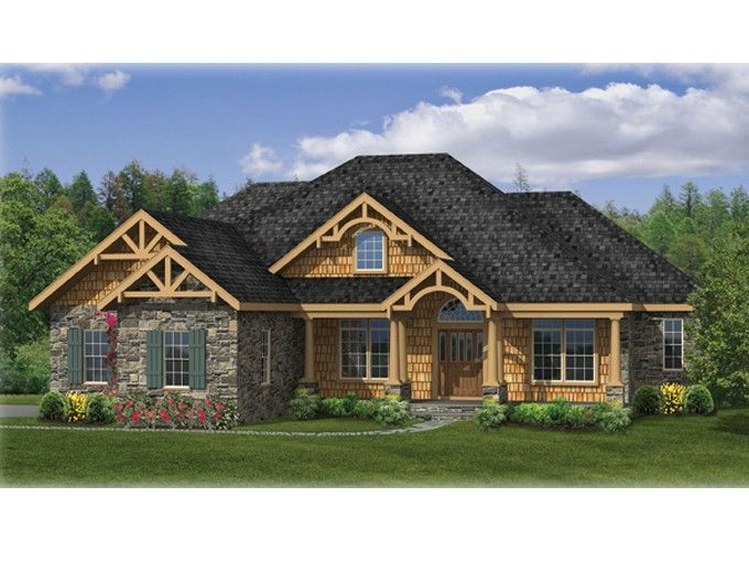 ePlans Craftsman House Plan –Comfortable Craftsman Ranch with Bonus Space 2233 Square Feet and 3 Bedrooms from ePlans – House Plan Code HWEPL75921