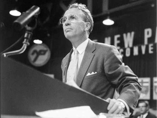 UNDATED -- This is a handout photo of Saskatchewan Premier Tommy Douglas. Library & Archives Canada, C-36219    Photos courtesy of CPAC.   For Sherri Levine (Canwest) CNS-TV-PREMIERS  For Natalie Stechyson (Postmedia News).  MEDICARE- POLL