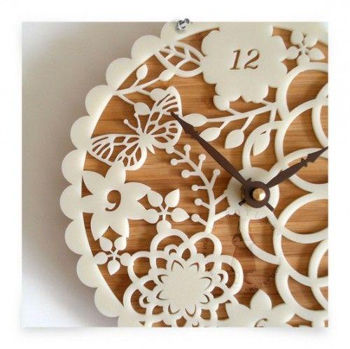 10 DIY Lacey Wall Clocks - girly! :D