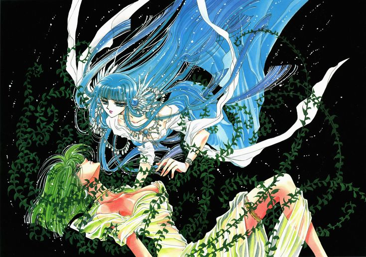 """Art from """"RG Veda"""" series by manga artist group CLAMP."""